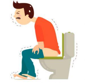 Рис. 1. Трещина заднего прохода на фоне геморроя вызывает сильные боли.