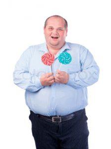 Рис. 1. Рафинированная пища и ожирение - основная причина геморроя