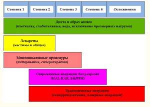 Рис. 1. Принцип выбора метода лечения геморроя
